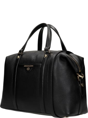 Michael Kors Hand Bag In Black Leather