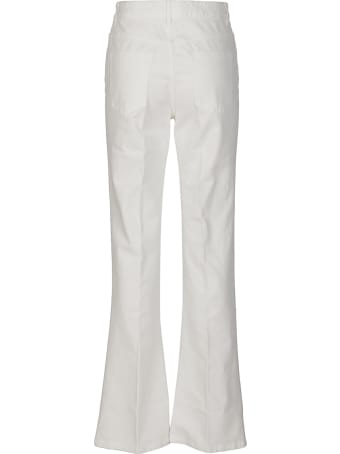 Les Copains White Cotton Jeans