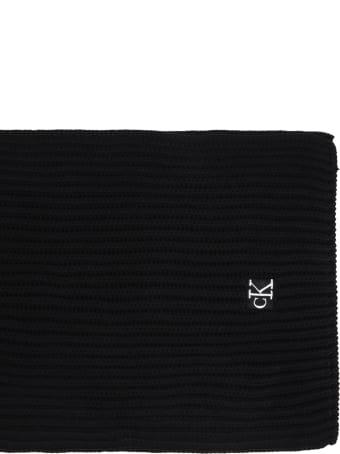 Calvin Klein Black Scarf For Kids With Logo