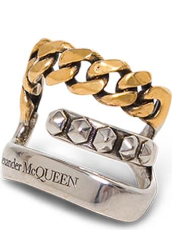 Alexander McQueen Punk  Antique Brass Earring