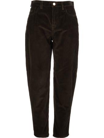 Jacob Cohen Woman Dark Brown Corduroy Kimmy Jeans