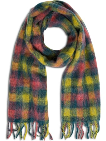 Andersson Bell Multicolor Wool Blend Check Scarf
