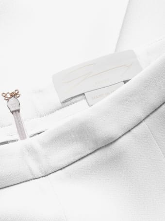 Genny White High-rise Trousers
