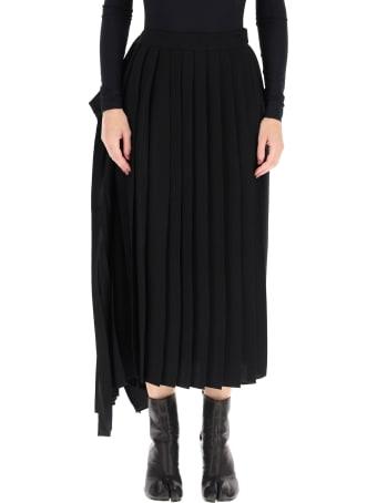 MM6 Maison Margiela Asymmetric Pleated Skirt