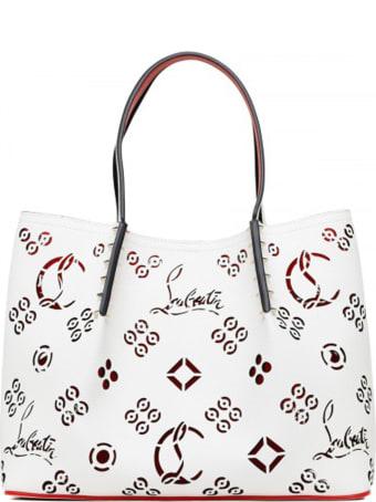 Christian Louboutin White Leather Cabarock Loubinthesky Small Bag