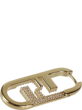 Fendi Dual F Embellished Earrings
