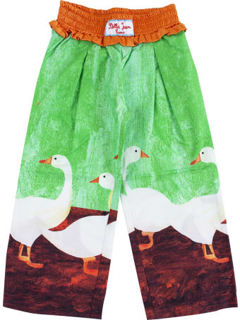 Stella Jean Girl Trousers Printed With Geese