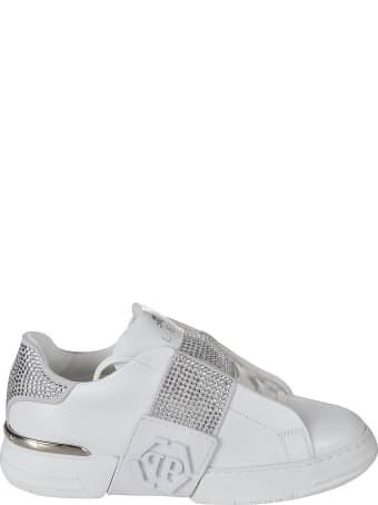 Philipp Plein Phantom Kicks Lo-top Crystal Sneakers