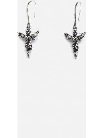 Saint Laurent Pendant Earrings With Brass Angel