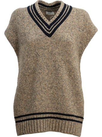 Closed College Style Sleeveless Pullover