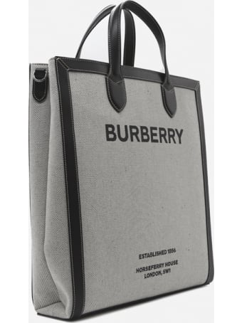 Burberry Horseferry Print Cotton Canvas Tote Bag