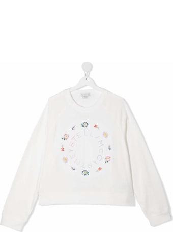 Stella McCartney Kids Cotton Sweatshirt With Floral Logo Print