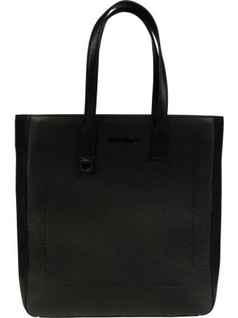 Salvatore Ferragamo Logo Stamped Shopper Bag