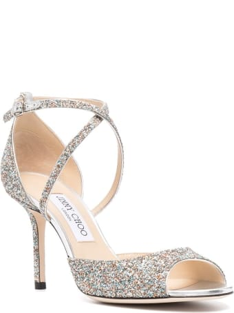 Jimmy Choo Emsy Glitter Sandals