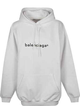 Balenciaga Oversize Chest Logo Hoodie