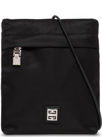 Givenchy Black Nylon Crossbody Bag With Logo