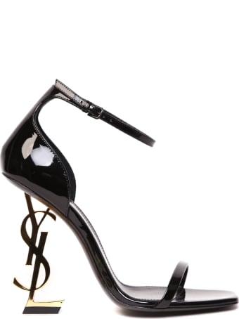 Saint Laurent Opyum Black Patent Leather Sandals
