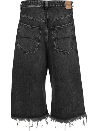 Balenciaga Wide Leg Cropped Jeans