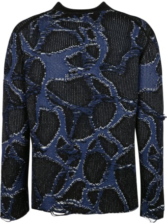 Lancaster Paris Embroidered Woven Sweater
