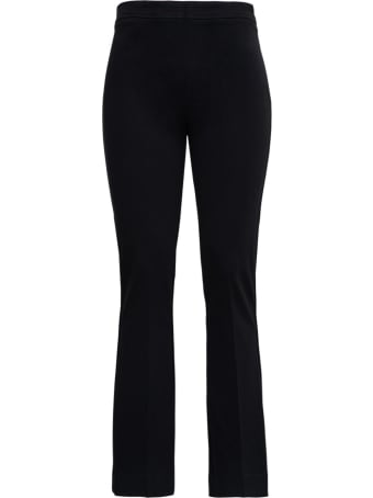 Jucca Black Flared Pants In Viscose Blend