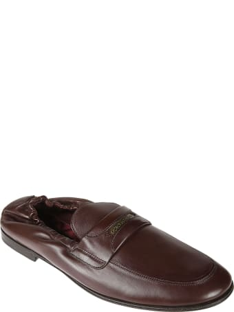 Dolce & Gabbana Logo Stamped Loafers