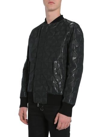 Tom Rebl Bomber Jacket With Intarsia