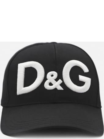 Dolce & Gabbana Cotton Hat With Contrasting Embroidered Logo