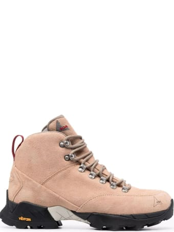 ROA Beige Andreas Suede Hiking Boots