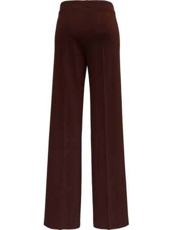 Jil Sander Wide Pants In Brown Viscose
