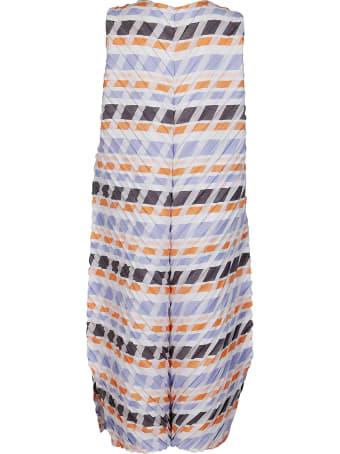 Issey Miyake Multicolor Midi Dress
