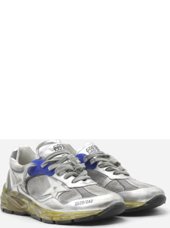Golden Goose Dad-star Sneakers In Leather With Distressed Effect Finishes