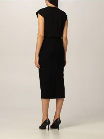 Emporio Armani Dress Emporio Armani Midi Dress In Viscose Knit