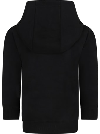 Givenchy Black Sweatshir For Kids With Logo