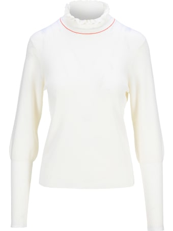Chloé Chloe' Ruffled High Neck Sweater