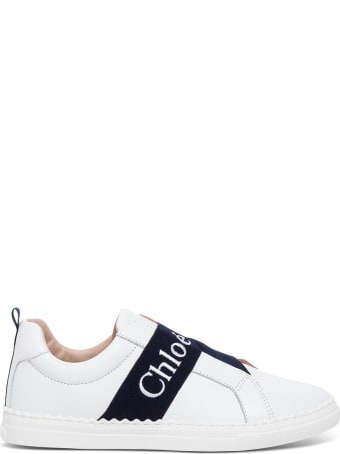 Chloé Leather Sneakers With Logo Band Detail