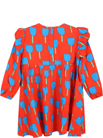 Stella McCartney Kids Red Dress For Baby Girl With Tulips
