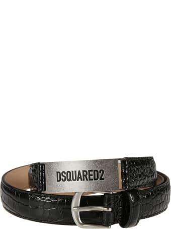 Dsquared2 Croco Stamp Belt