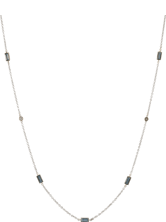 Lo Spazio Jewelry Lo Spazio Aquamarine and Diamond Necklace