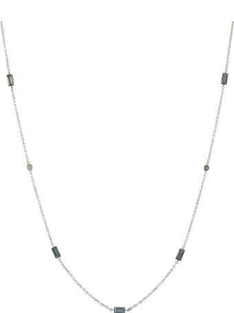 Lo Spazio Jewelry Lo Spazio Aquamarine and Diamond Necklace