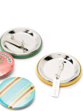 Philosophy di Lorenzo Serafini Kit Of Multicolor Brooches With Logo