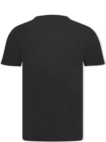 Stone Island Black Cotton T-shirt