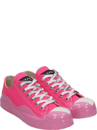 Gienchi J.m. Low Sneakers In Fuxia Synthetic Fibers