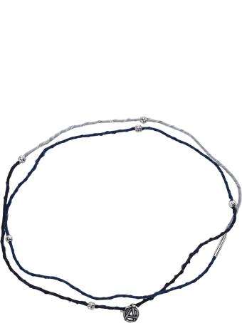 AMBUSH Emblem Charm Braided Necklace