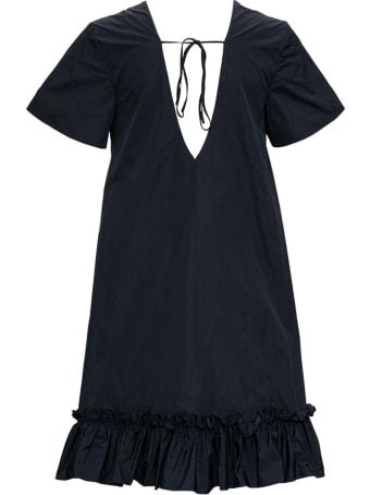 RED Valentino Asymmetrical Taffeta Dress With Bow