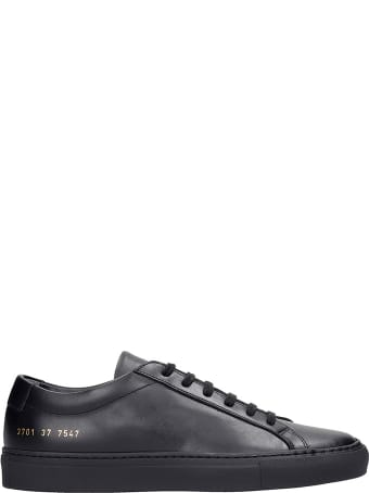 Common Projects Achille Sneakers In Black Leather