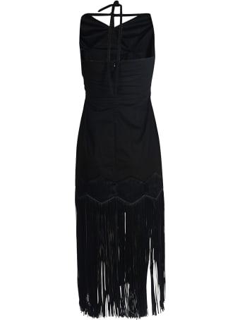 Paskal Halter Strap Dress With Fringe Hem