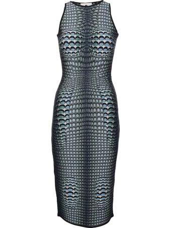 Marine Serre Moonfish Skin Jacquard Knit Tube Dress