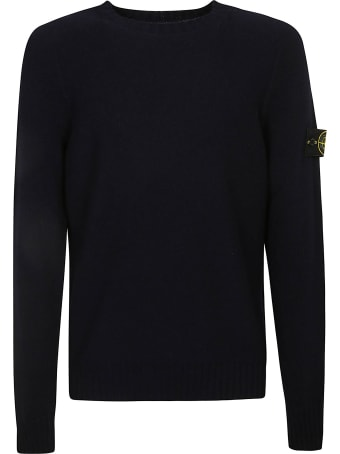 Stone Island Side Sleeve Logo Patch Sweater