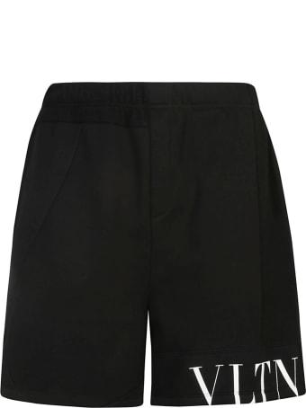 Valentino Logo Print Shorts