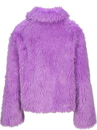 MSGM Short Jacket Gfaux Fur